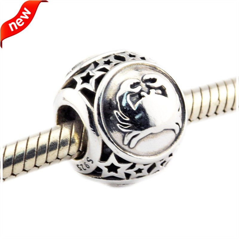 925 Silver Jewelry Beads DIY Fits Pandora Bracelets Charms Cancer Star Sign Silver Charm Beads for Jewelry Making Women Gift