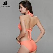 Summer New Sexy One Piece Swimwear For Women Bandage Swimsuit Push Up White Brazilian Monokini