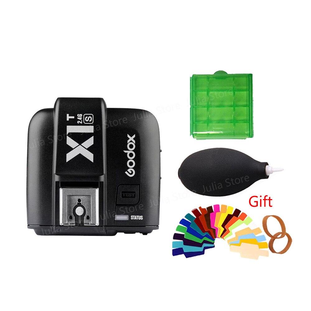 Godox X1T-S TTL HSS Wireless Trigger for flash V860II TT685 TT600 for Sony DSLR Cameras a77II, a7RII, a7R, a58, a99, ILCE6000L godox v860iis flash speedlite 2 v860ii s ttl hss 2 4g li ion battery x1t s trigger for sony dslr cameras supon free gift kit