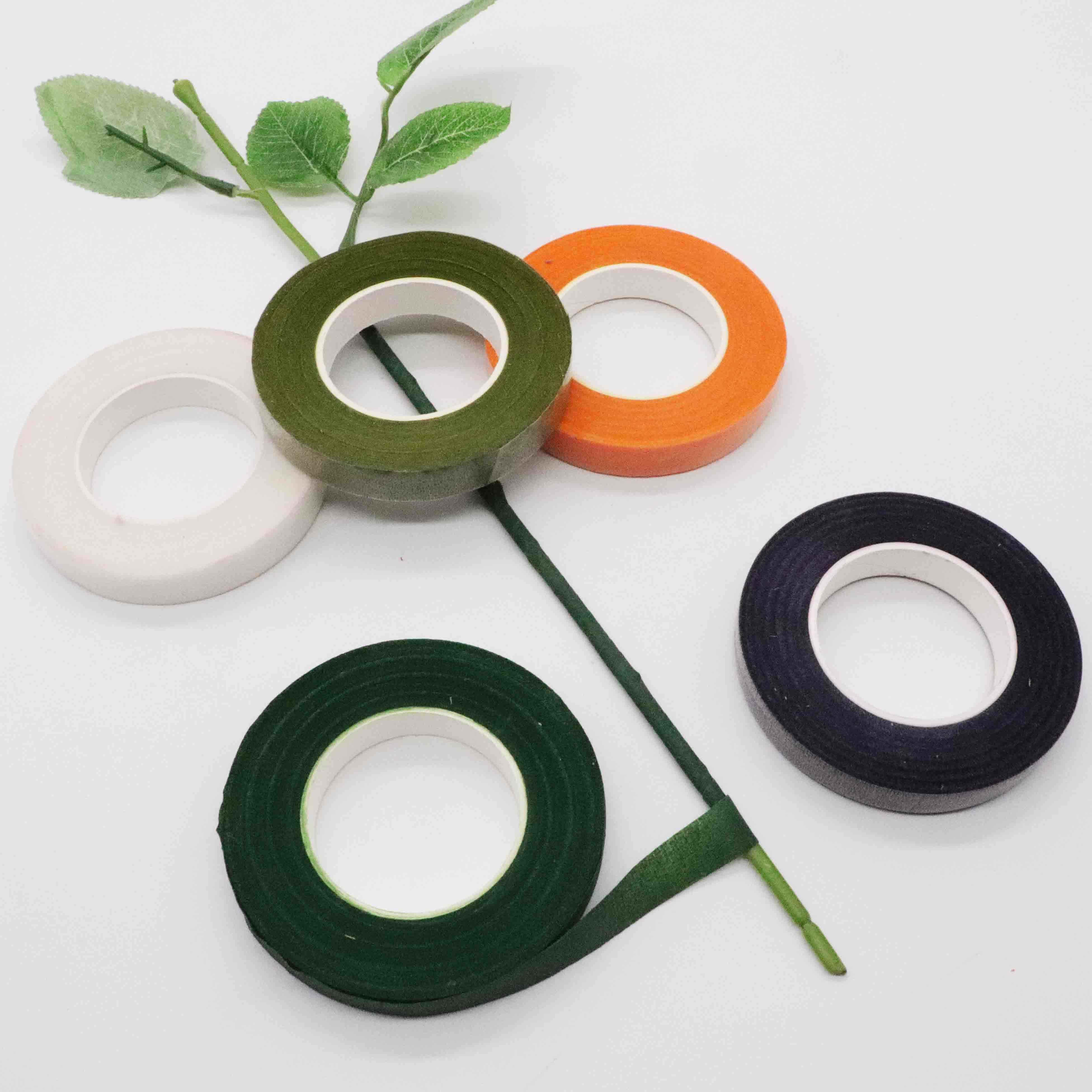 Bunga Hijau Tape 12 Mm X 45 M/Roll Pita Korsase Lubang Kancing Buatan Bunga Benang Sari Bungkus Bunga Hijau Tape elastis Tape