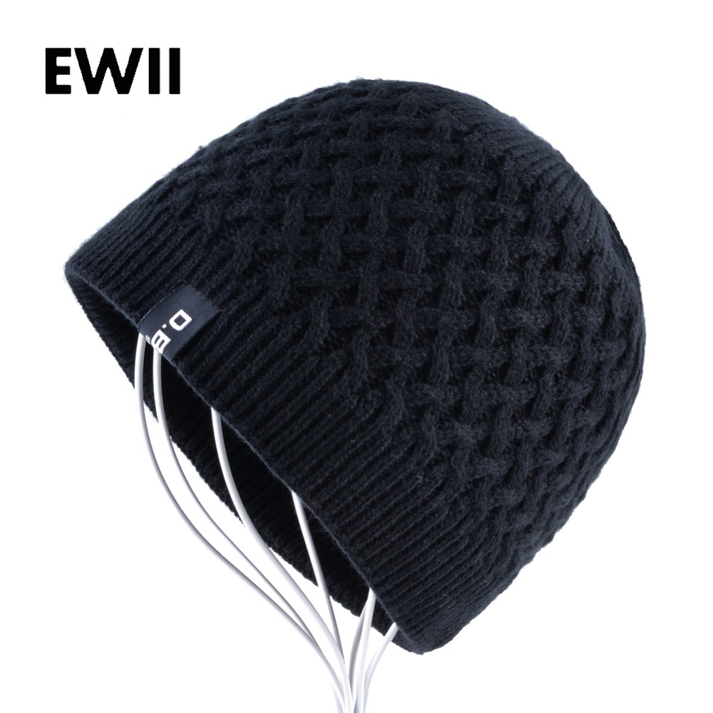 2017 New knit beanie cap men winter knitted wool hats skullies beanies for men warm hats bonnet women fashion hat touca inverno hight quality winter beanies women plain warm soft beanie skull knit cap hats solid color hat for men knitted touca gorro caps