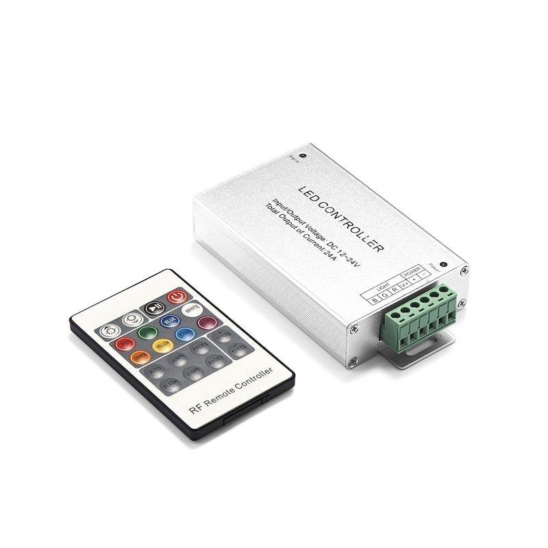 DC12V 24V 12A 24A LED RGB Controller With RF Remote RGB Controller For SMD 3528 5050 RGB LED Rigid Strip Modules