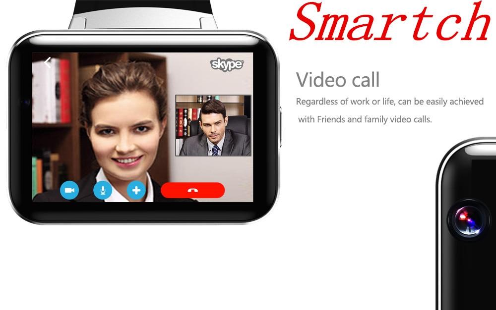 Smartch DM98 WCDMA GPS Bluetooth Montre Smart Watch 2.2 pouce 3g Smartwatch Téléphone MTK6572 900 mah Batterie 1.2 ghz 4 gb ROM Caméra Android 4