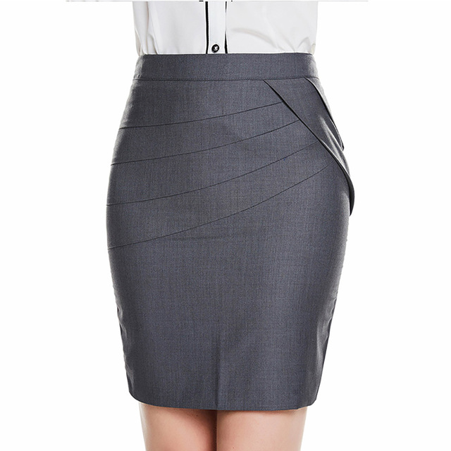 6e5ecda646 2018 Autumn Summer Women Skirts Office Formal Pencil Skirts Casual Sexy  Slim High Waist Knee-Length Midi Skirt saia Plus Size
