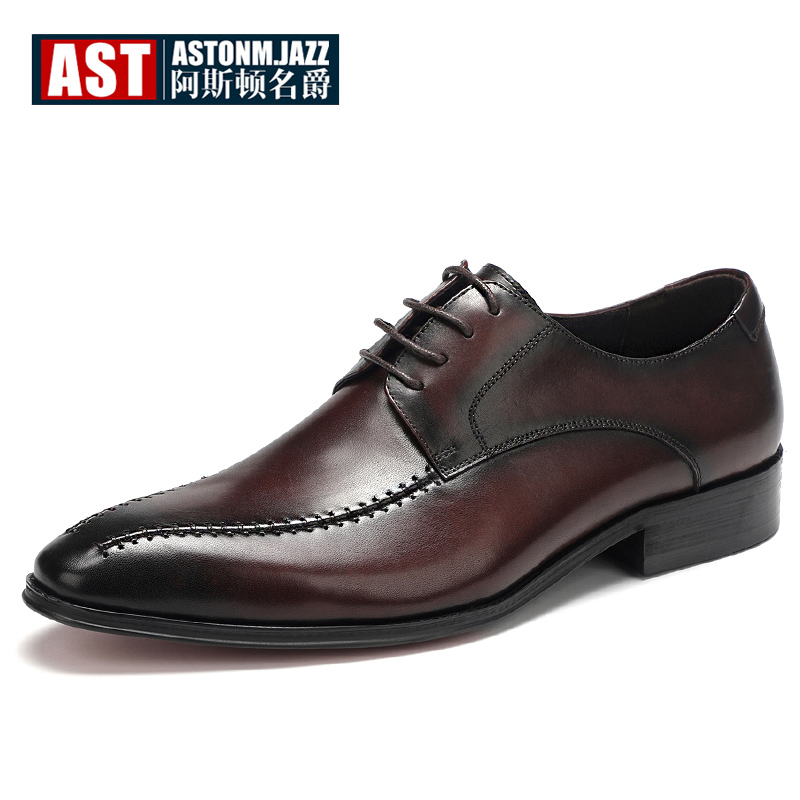 Size 38-45 British Style Mens High-end Oxfords Business Man Formal Dress Lace Up Full Grain Leather Wedding Shoes hight end full grain leather men lace up high heel shoes man thick heel black formal dress height increasing heighten shoes