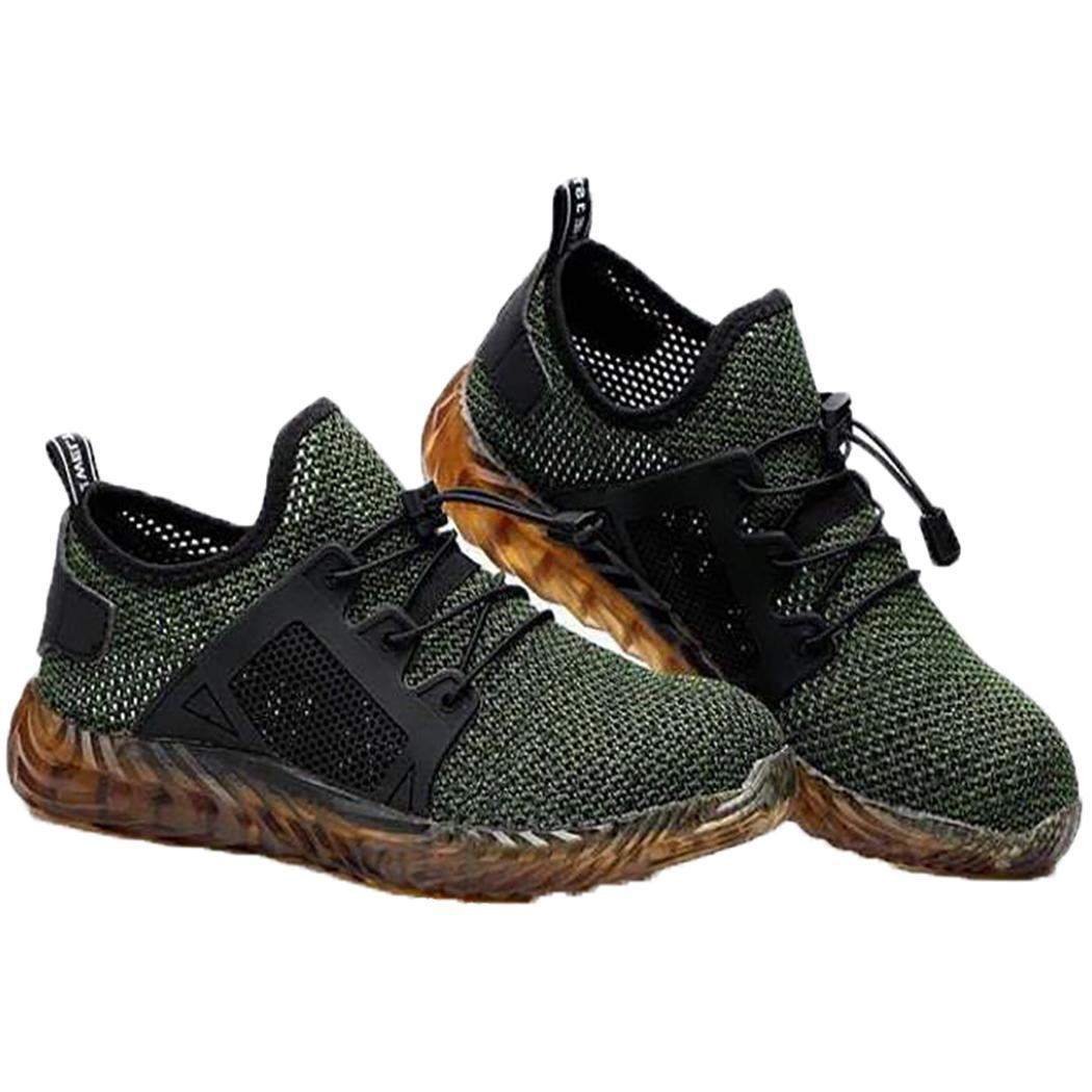 Men Steel Toe Safety Shoes Labor Insurance Sneakers Breathable Mesh Shoe