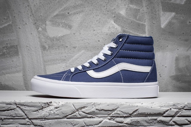 5fc77ecdfb6 Free Shipping Vans SK8-HI classic OLD SKOOL Blue High Help men s Sneakers  canvas shoes