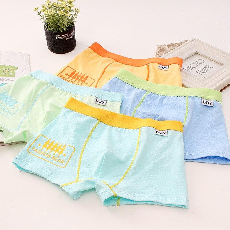 5ps Children's Boy's Underwear Cotton Flat Horn Underwear Big Boy's Four-angle Underwear Shorts Tobani