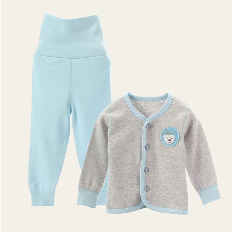 New spring autumn newborn baby girl boy clothes sets long sleeve cardigan tops high waist pants