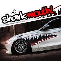 Red Grey Shark Mouth Garland Hellaflush Car Styling Reflective Vinyl Sticker Auto Cool Refitting Exterior Decal