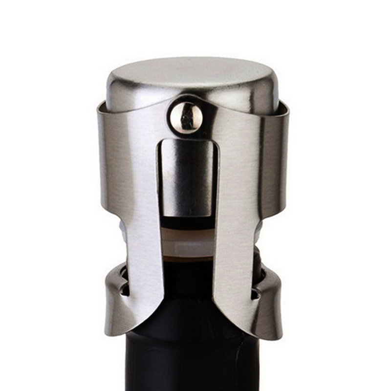 Champagne Sparkling Wine Bottle Stopper Sealer Plug Stainless Steel Bottle Sealing Plug Wine Stoppers Bottle Cap Stopper