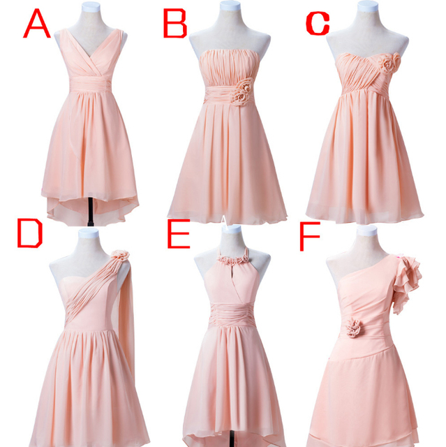 grecian gown sister of the bride short pink dresses woman bridesmaid ...