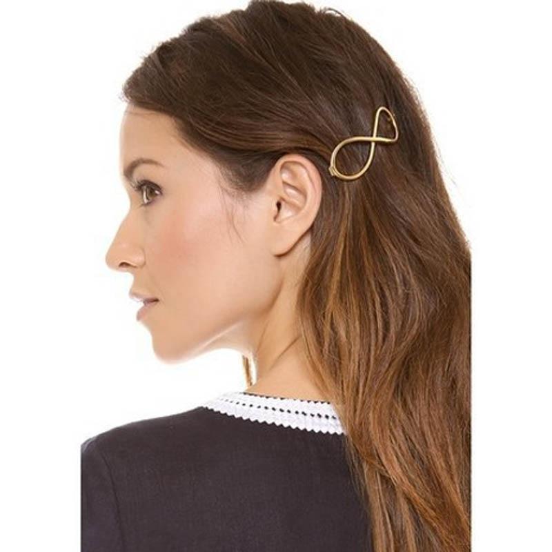 Sale !! Fashion Women Positive Infinity Gold Barrette Hairpin Hair Clip Headband causual adult hair accessories Free Shipping максимова т поурочные разработки по технологии 2 класс универсальное издание