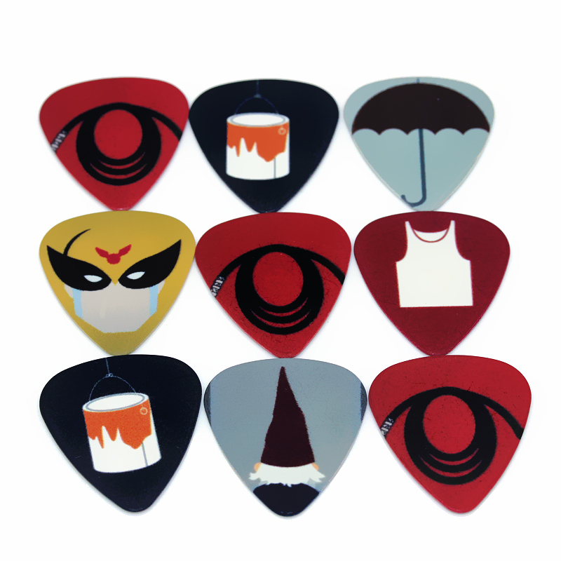 SOACH 50pc/Lot 0.46/0.71/1.0mm Guitar Pick Plucked Instrument Accessories Bass Guitar Paddle/Acoustic Guitar/ukulele Parts