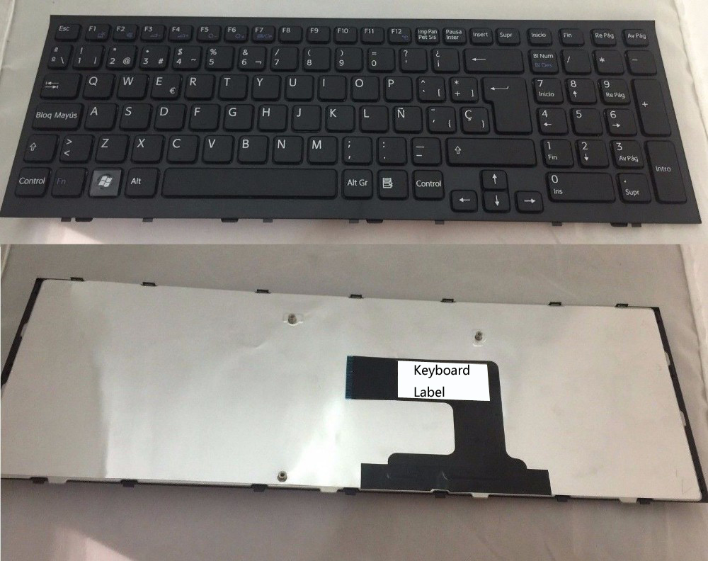 New  keyboard for Sony Vaio VPC-EL  vpcel Spanish  9Z.N5CSW.A0S 148968881  SP  layout new original for lenovo flex 2 15 palmrest keyboard bezel upper case cover black 46000z0x000a 5cb0f76796