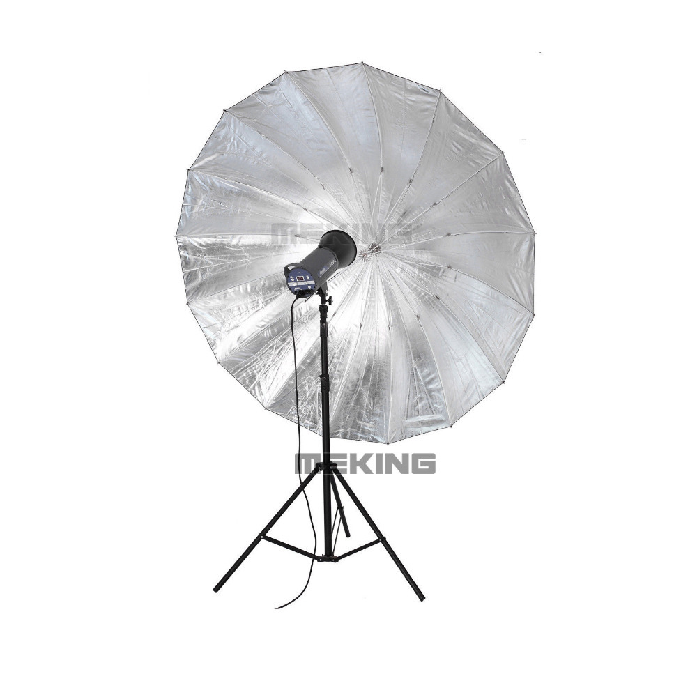 Selens Photo Studio Lighting Umbrella (Fibre Frame) 150cm/60 Black & Silver shooting umbrellas photodraphic accessories зонт phottix reflective studio umbrella 152cm silver black 85335