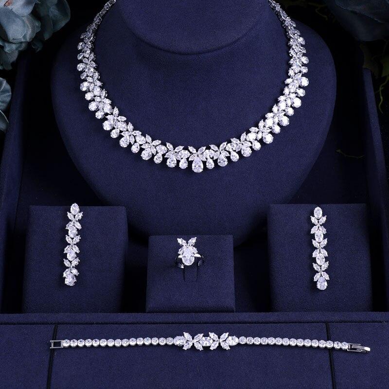 Janekelly Full-Jewelry-Sets Zirconia Crystal Dubai Bridal Party Nigeria Women 4pcs