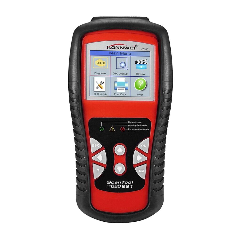 OBDII EOBD peut scanner l'outil KW830 lecteur de Code automatique odb2 travail de diagnostic pour voiture Renau lt mieux que MaxiScan MS509