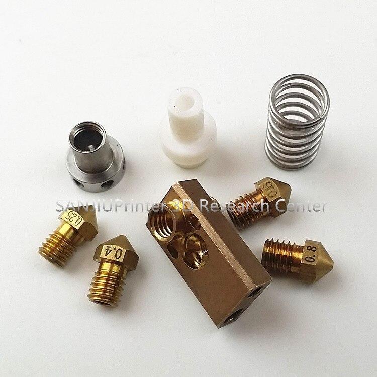 ФОТО 3D printer Upgrade Ultimaker 2 + UM2 Extended+ Olsson block nozzle hotend kit for 3mm filament Heaterblock