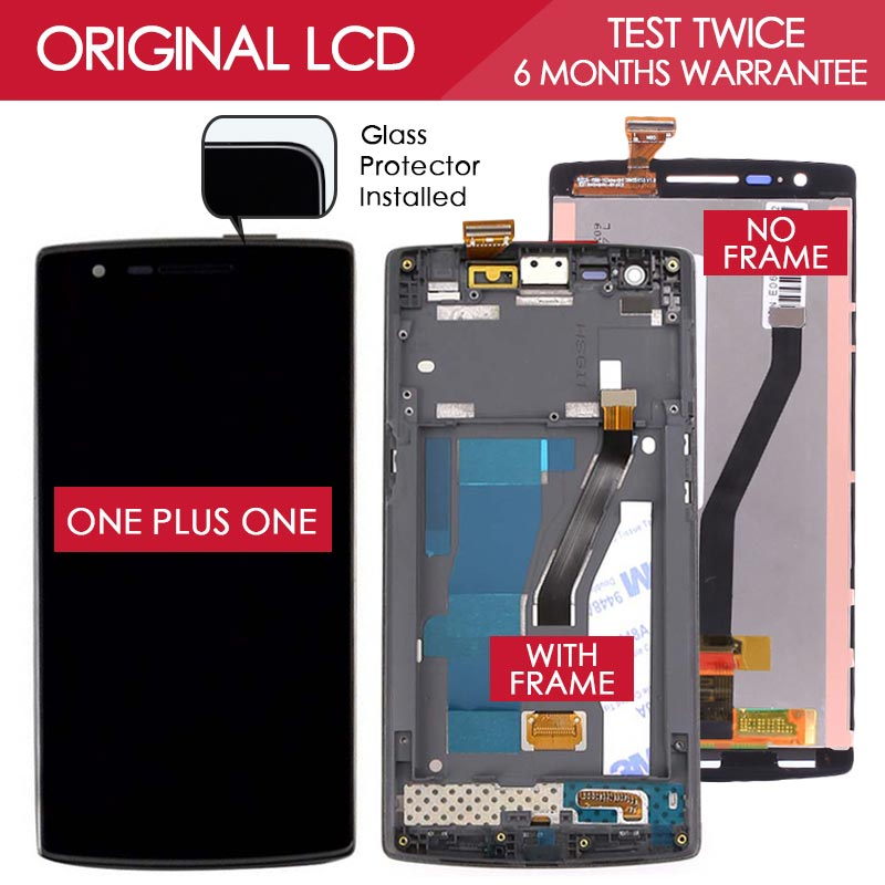 100 Tested Original 1920x1080 LCD For OnePlus One Screen One Plus One Display with Touch Screen