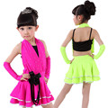 20pcs/lot Free Shipping New Kids Standard Salsa Latin Dance Dress for Girls Children Stage Ballroom Competition Dancing Costumes