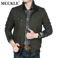 MCCKLE Army Military Men S Jacket Casual Spring Winter Jacket Men Coats Male Outerwear Autumn Overcoat