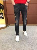 WE07619BH Fashion Men's Jeans 2018 Runway Luxury Brand European Design party style Men's Clothing