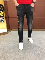WE07619BH Fashion Men's Jeans 2018 Runway Luxury Brand European Design party style Men's Clothing