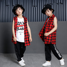 Children Hip Hop Dance Costume Kids Jazz Wear Child School Street for Stage Performance POP Top Vest Pants Outfit 90