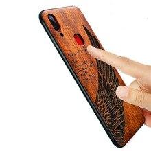 2018 nueva funda de VIVO NEX S delgada cubierta trasera de madera TPU funda de protección para VIVO NEX S fundas de teléfono VIVO NEX