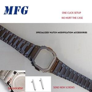 Image 4 - Kordonlu saat GWM5610 DW5600 saat kayışı kayışı durumda Metal paslanmaz çelik bilezik çelik kemer aksesuarları