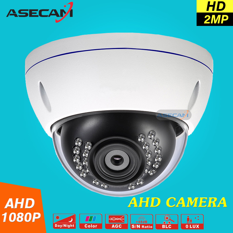 bilder für Neue HD 2MP 1080 P AHD Kamera CCTV Weiß Metall Dome Home Security Videoüberwachung Wasserdichte IR Nachtsicht Vandal-proof