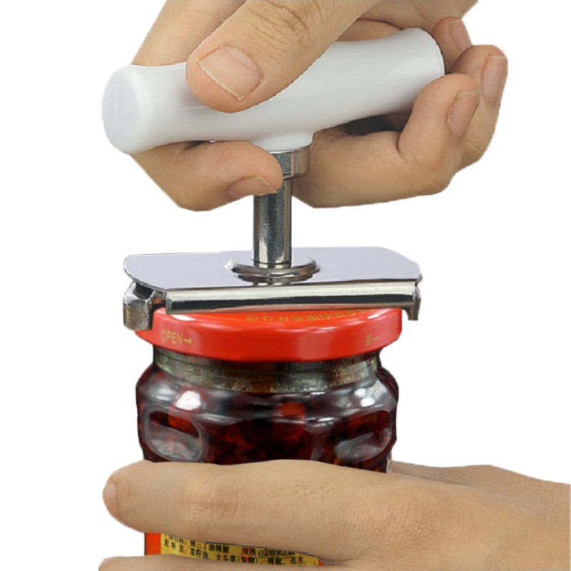 New Adjustable Jar Opener, Stainless Steel Lids Off Jar Opener & Bottle Opener, Adjustable Can Opener For 1-4 Inches