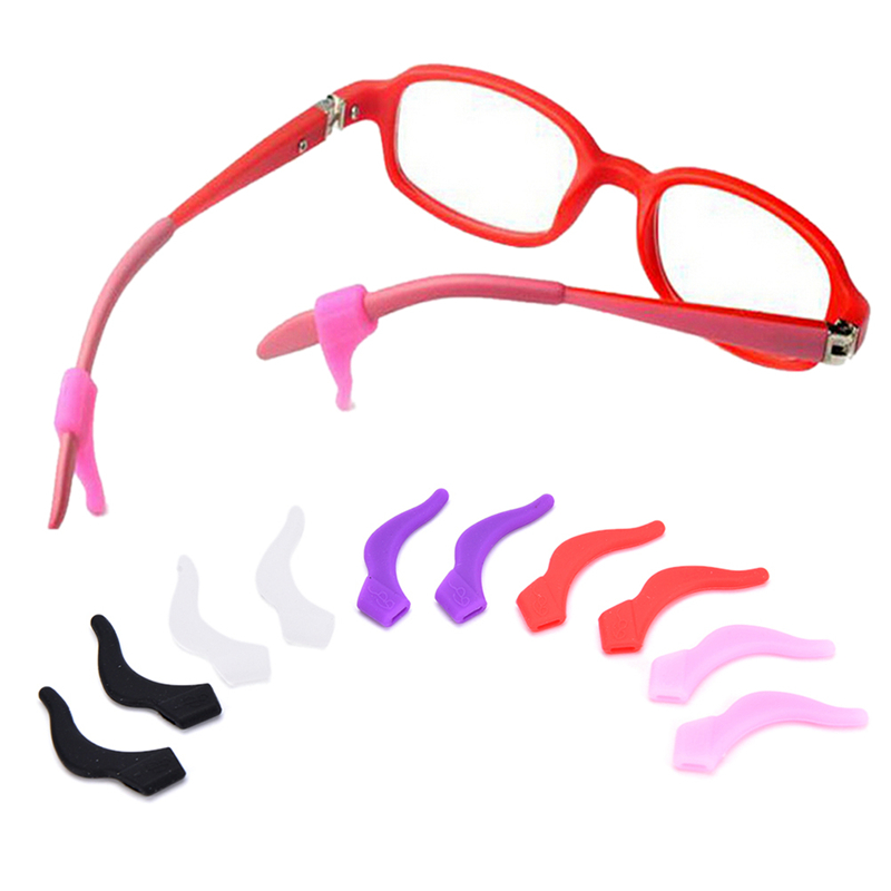 1 Pairs  Silicone Reading Eye Glasses Sunglasses Temple Tip Ear Hooks Grip Holder Eyeglasses Retainer Eyewear Ear Lock Anti Slip