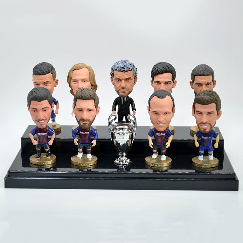f61f27cc153 2019 New Soccer Football Player Action Figures RM FCB MU Clubs Set ...
