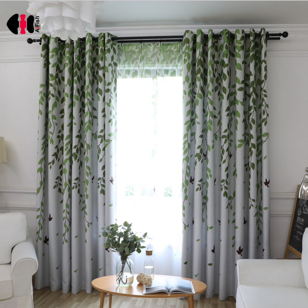 Rustic Curtains For Living Room Rustic Curtains For Living Room Willow Birds Printed Voile Tulle