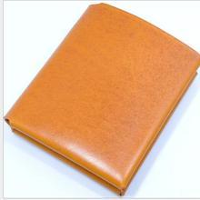 Винтаж сплошной унисекс пояса из натуральной кожи ручной работы паспорт держатель для карт мягкий кошелек