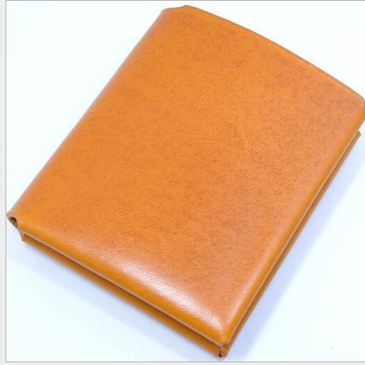 Vintage solide unisexe véritable main en cuir passeport titulaire de la carte portefeuille doux