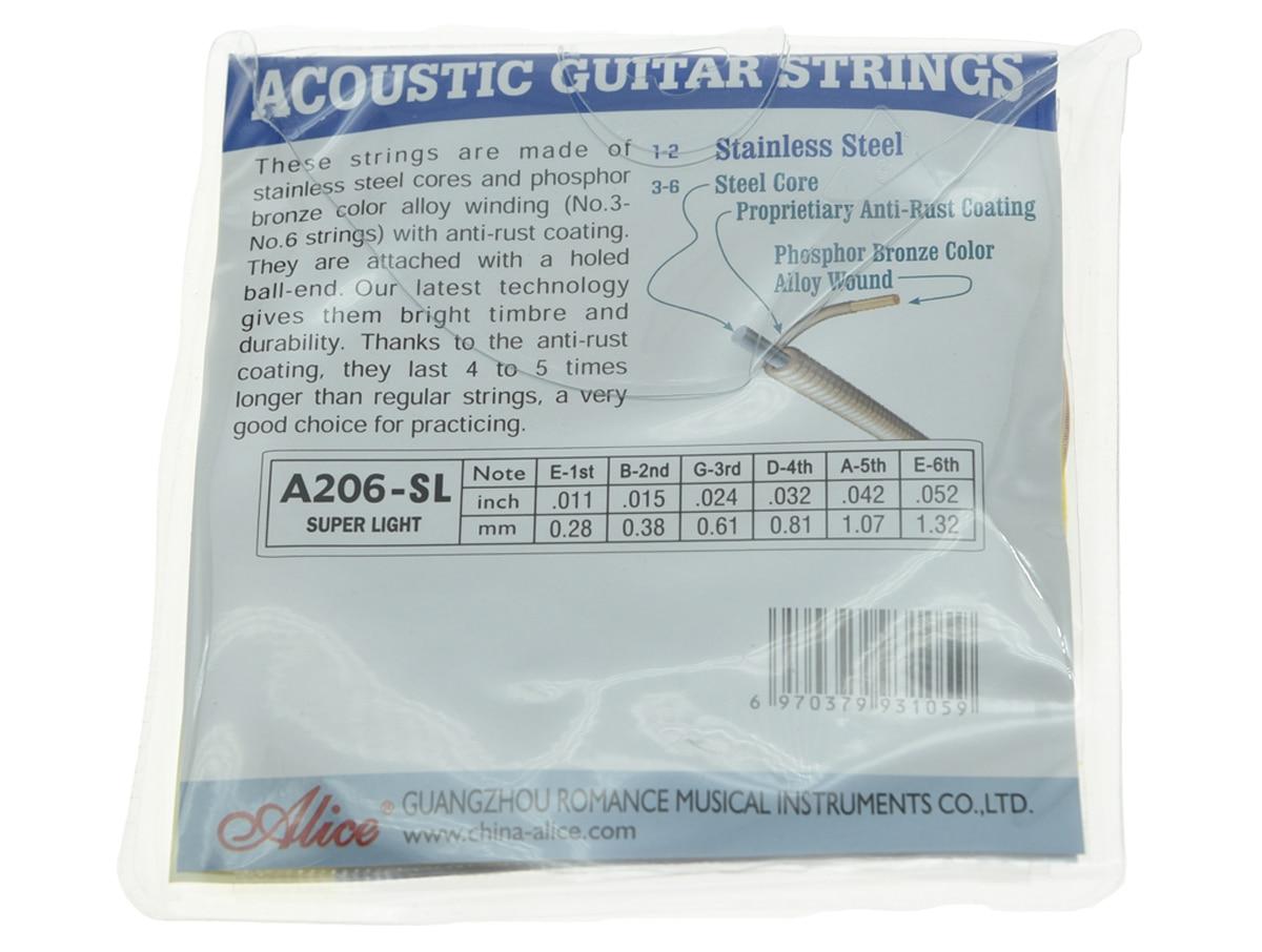 Satz von Alice Edelstahl Folk Westerngitarre String Super Light - Musikinstrumente - Foto 2