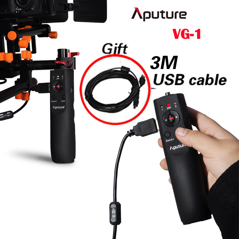 Aputure VG-1 USB Focus Handle Follow Focus Controller for Canon EOS 1D Mark IV 5D Mark II III 7D 60D 600D 550D 500D 1100D DSLR aputure 1 0 lcd wired timer remote shutter release for canon eos 1100d 60d more 1 x cr2032