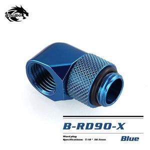 Image 5 - BYKSKI G1/4 90 Grad Dreh Montage/Messing zubehör von wasser kühlung Adapter B RD90