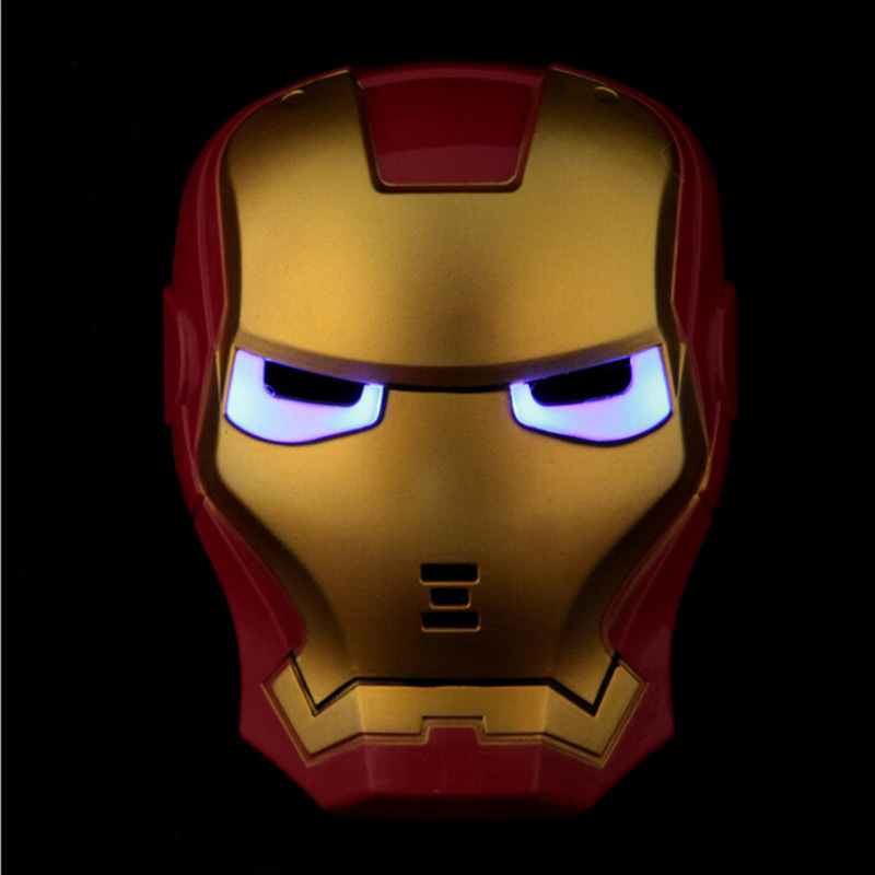 LED Glowing Super Hero Mask The Avengers Iron Man Party Cosplay Halloween Mask Toy 2017 new cartoon mask the avengers superhero led iron man mask action figure model toys halloween cosplay gift for adult
