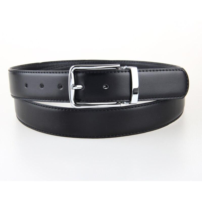 Bonne qualité en cuir véritable homme ceintures en cuir de vache hommes  d affaires ceintures grande taille réglable Hommes trou ceinture 130 135 cm  noir ... f88d996fab2