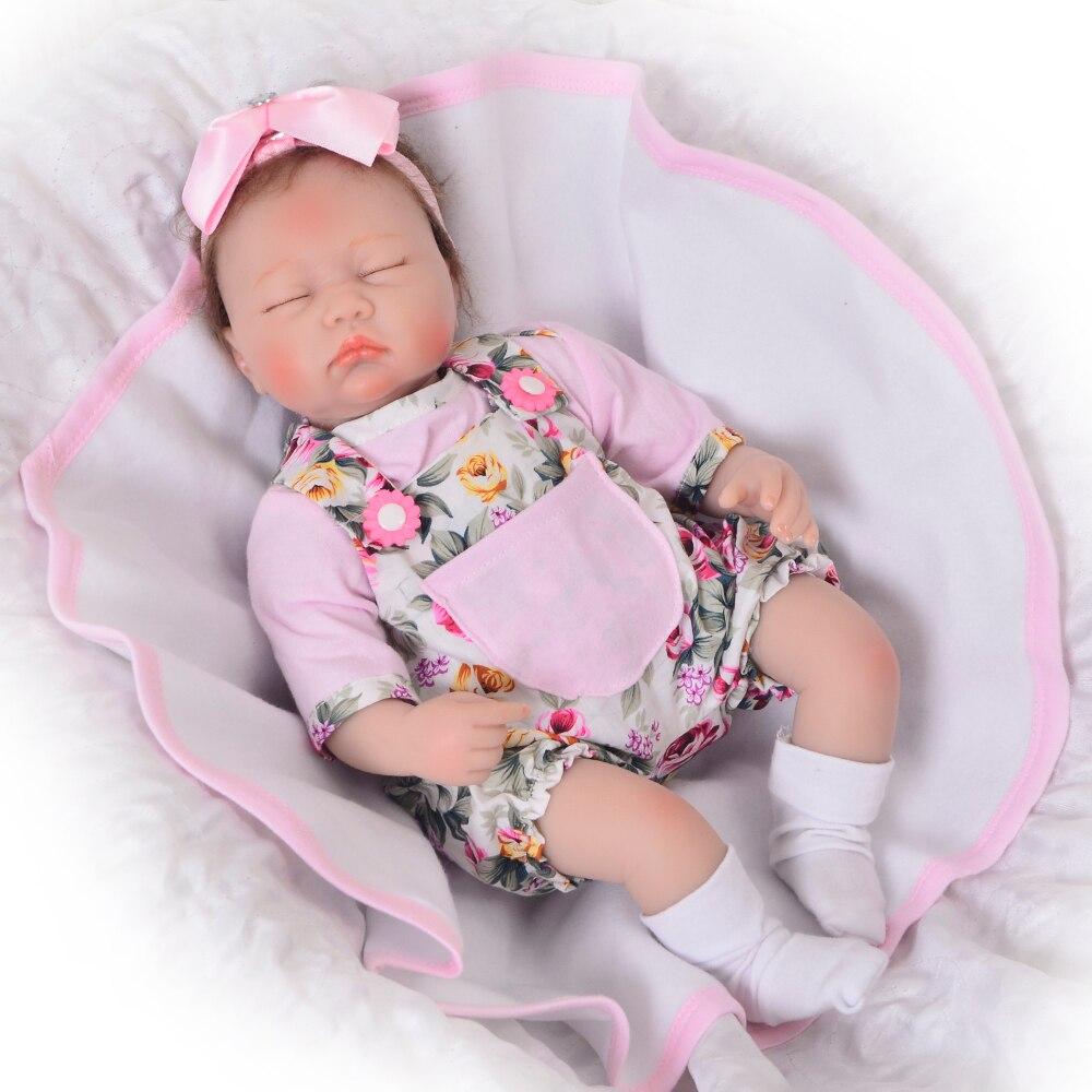 KEIUMI 17 Cal zamknij oczy Reborn Boneca realistyczne miękkie silikonowe noworodka Menina Reborn lalka z żyrafa Partner mogę zaoferować ekskluzywne zabawki w Lalki od Zabawki i hobby na  Grupa 3