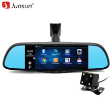 "Junsun 7 ""DVR especial Del Coche Espejo de La Cámara FHD 1080 p Android 4.4 gps Bluetooth 16 GB Grabador de Vídeo Dual de la Lente del automóvil"