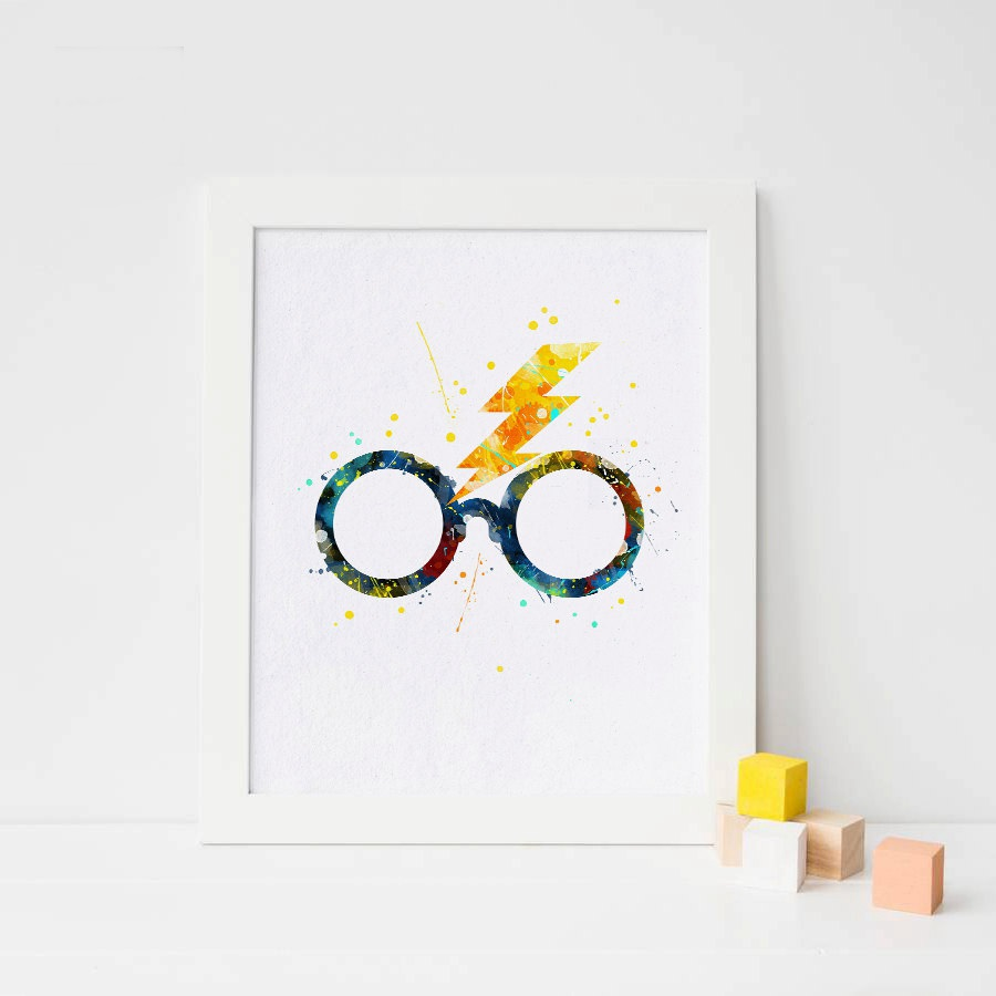 70e06d37786c Magic Glasses Wall Art Print Picture And Poster Harry Potter Canvas  Painting Home Decoration for Living Room No Frame-in Painting   Calligraphy  from Home   ...