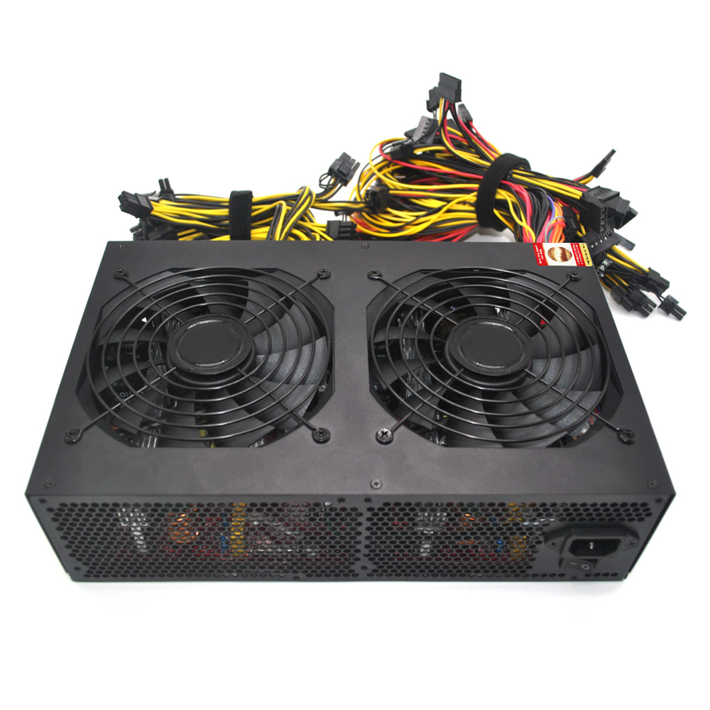 Maximum 3600W Switching Power Supply Active PFC for Bitcoin Ethereum Miner Mining Machine 160-260V with Low Noise Cooling Fans 2018 high efficiency rated 2200w power supply with emc with dual 8cm low noise cooling fans for bitcoin mining machine