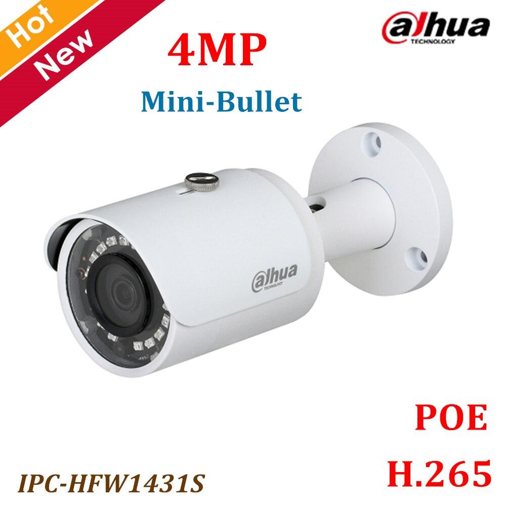 Dahua POE Ip camera IPC-HFW1431S 4MP WDR IR Mini Bullet Camera IR Distance 30m H.265 Waterproof IP67 Security camera цена