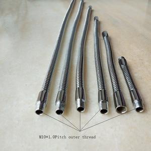 Image 3 - Лидер продаж, Светодиодная гибкая лампа M10 с гусиной шеей, для мужчин и женщин, хромированный металлический шланг, Универсальная мягкая трубка, металлические трубки под змеиную кожу, сделай сам