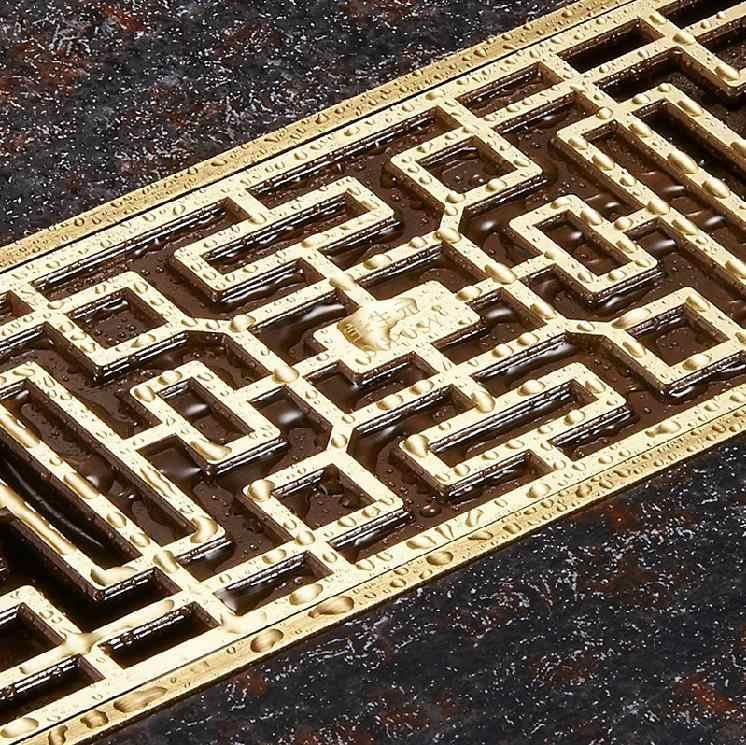 Стоки Евро Стиль античная латунь ванная комната Линейный душ 8*20 8*30 см дренаж, проволочный сетчатый фильтр арт резная крышка слива отходов B8029